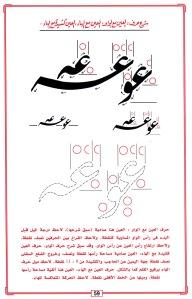 كما يشير المؤلف الى تغلب الإتجاه الأفقي على العمودي في الخط الفارسي.