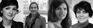 نادي التصميم الطباعي النسائي من اليمين الى اليسار: هدى أبي فارس، نادين شاهين، ميريام سومرز، يارا خوري